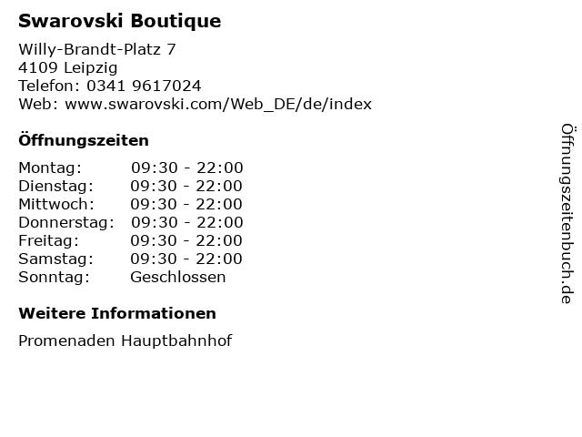 Swarovski Boutique in Leipzig: Adresse und Öffnungszeiten