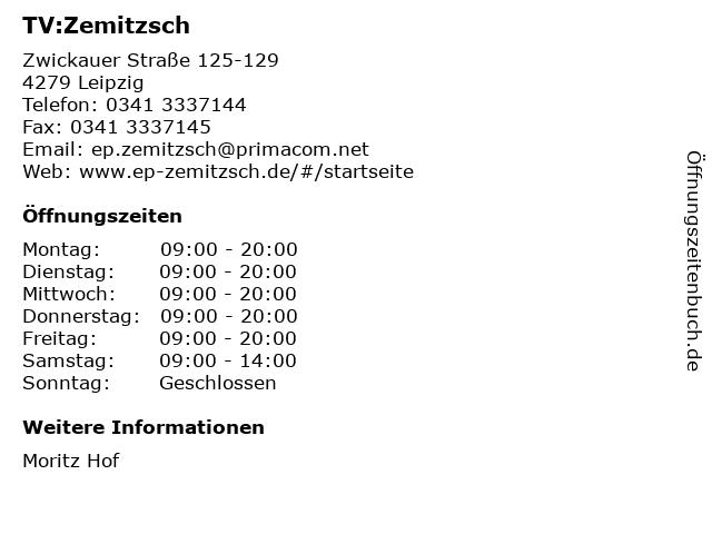 TV:Zemitzsch in Leipzig: Adresse und Öffnungszeiten