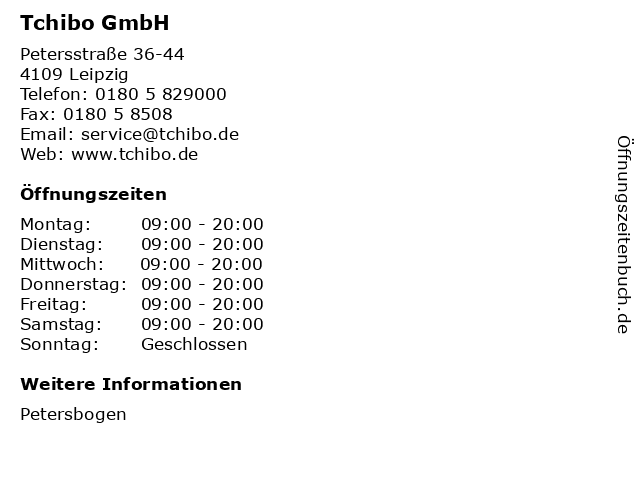 Tchibo GmbH in Leipzig: Adresse und Öffnungszeiten