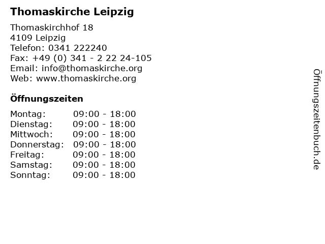 Thomaskirche Leipzig in Leipzig: Adresse und Öffnungszeiten
