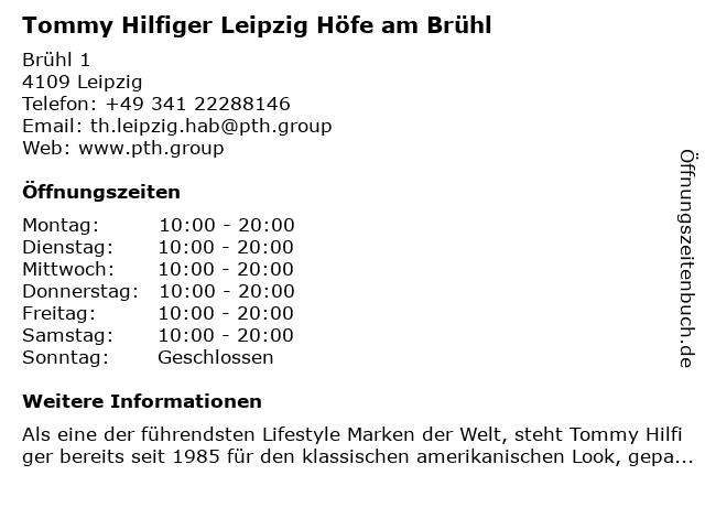 Tommy Hilfiger Leipzig Höfe am Brühl in Leipzig: Adresse und Öffnungszeiten