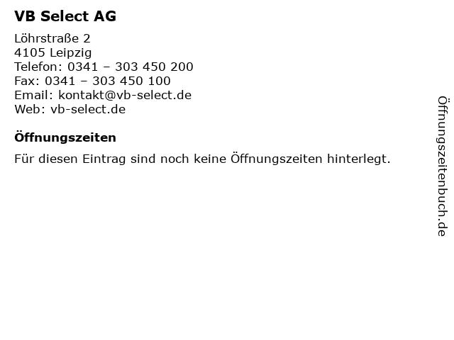 VB Select AG in Leipzig: Adresse und Öffnungszeiten