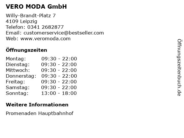 VERO MODA GmbH in Leipzig: Adresse und Öffnungszeiten