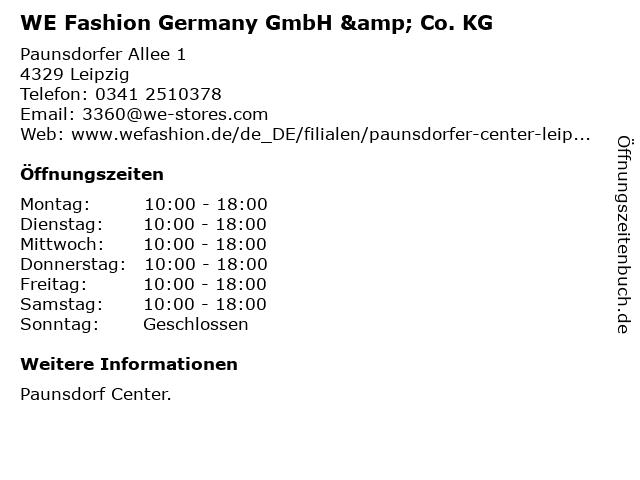 WE Fashion Germany GmbH & Co. KG in Leipzig: Adresse und Öffnungszeiten