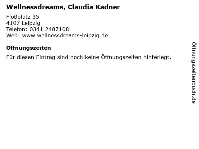 Wellnessdreams, Claudia Kadner in Leipzig: Adresse und Öffnungszeiten