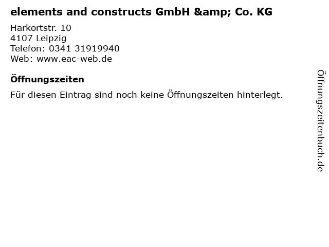 elements and constructs GmbH & Co. KG in Leipzig: Adresse und Öffnungszeiten