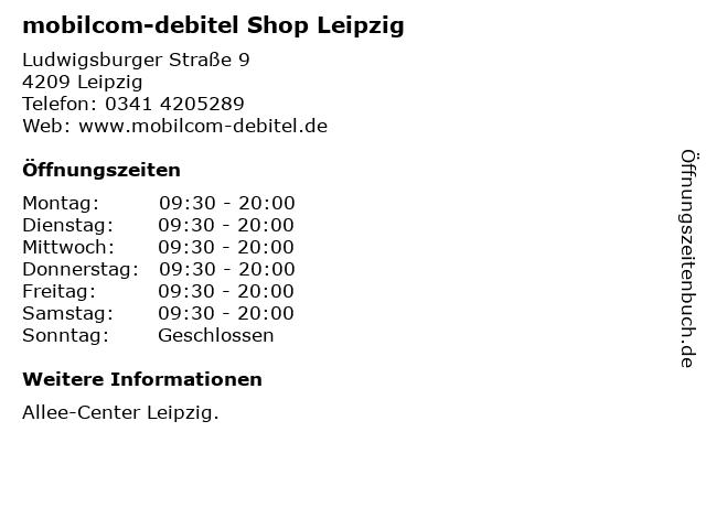 mobilcom-debitel Shop Leipzig in Leipzig: Adresse und Öffnungszeiten