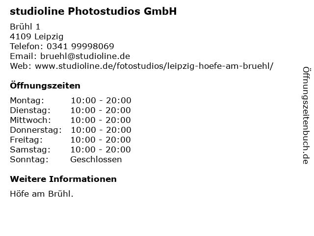 studioline Photostudios GmbH in Leipzig: Adresse und Öffnungszeiten