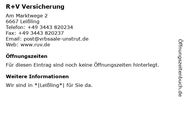 Volks- und Raiffeisenbank Saale-Unstrut eG - Bankstelle Leißling in Weißenfels: Adresse und Öffnungszeiten