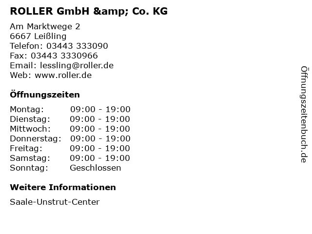 ROLLER GmbH & Co. KG in Leißling: Adresse und Öffnungszeiten