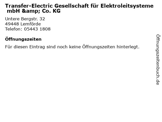 Transfer-Electric Gesellschaft für Elektroleitsysteme mbH & Co. KG in Lemförde: Adresse und Öffnungszeiten