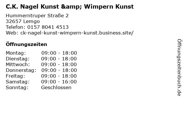C.K. Nagel Kunst & Wimpern Kunst in Lemgo: Adresse und Öffnungszeiten