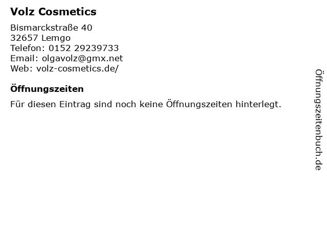 Volz Cosmetics in Lemgo: Adresse und Öffnungszeiten