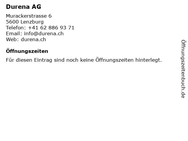 Durena AG in Lenzburg: Adresse und Öffnungszeiten