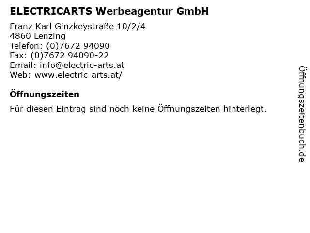 ELECTRICARTS Werbeagentur GmbH in Lenzing: Adresse und Öffnungszeiten