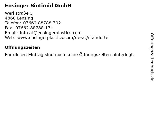 Ensinger Sintimid GmbH in Lenzing: Adresse und Öffnungszeiten