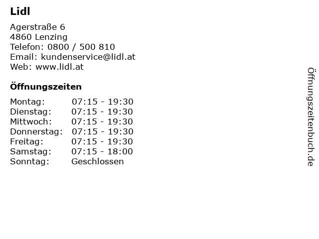 Lidl in Lenzing: Adresse und Öffnungszeiten
