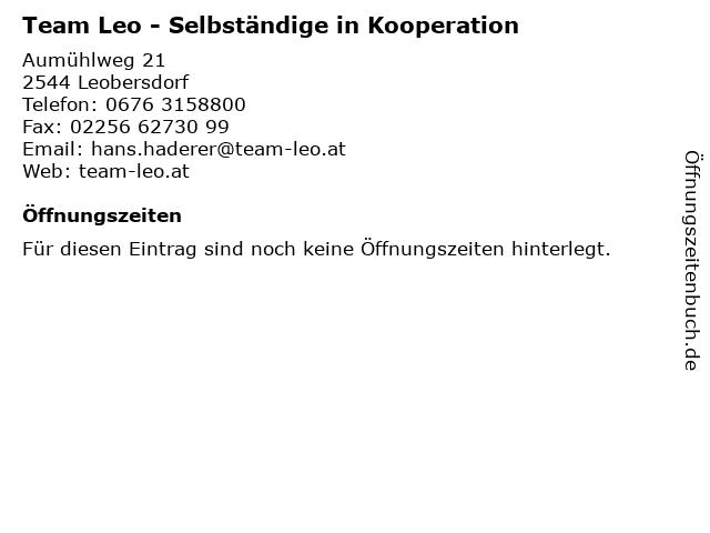 Team Leo - Selbständige in Kooperation in Leobersdorf: Adresse und Öffnungszeiten