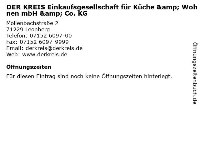 DER KREIS Einkaufsgesellschaft für Küche & Wohnen mbH & Co. KG in Leonberg: Adresse und Öffnungszeiten