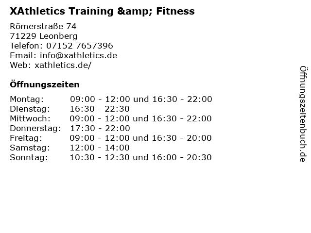 XAthletics Training & Fitness in Leonberg: Adresse und Öffnungszeiten