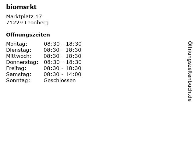 biomsrkt in Leonberg: Adresse und Öffnungszeiten