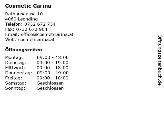 Cosmetic Carina in Leonding: Adresse und Öffnungszeiten