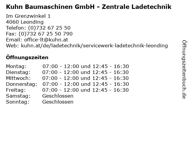 Kuhn Baumaschinen GmbH - Zentrale Ladetechnik in Leonding: Adresse und Öffnungszeiten