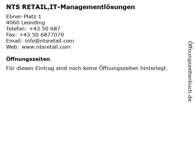 NTS RETAIL,IT-Managementlösungen in Leonding: Adresse und Öffnungszeiten