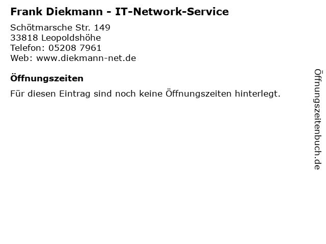 Frank Diekmann - IT-Network-Service in Leopoldshöhe: Adresse und Öffnungszeiten
