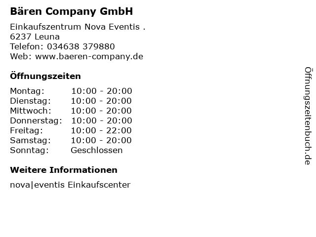 Bären Company GmbH in Leuna: Adresse und Öffnungszeiten