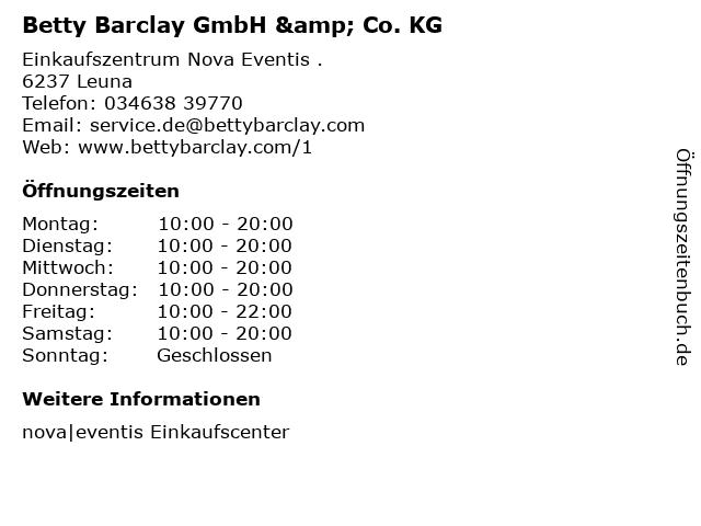 Betty Barclay GmbH & Co. KG in Leuna: Adresse und Öffnungszeiten