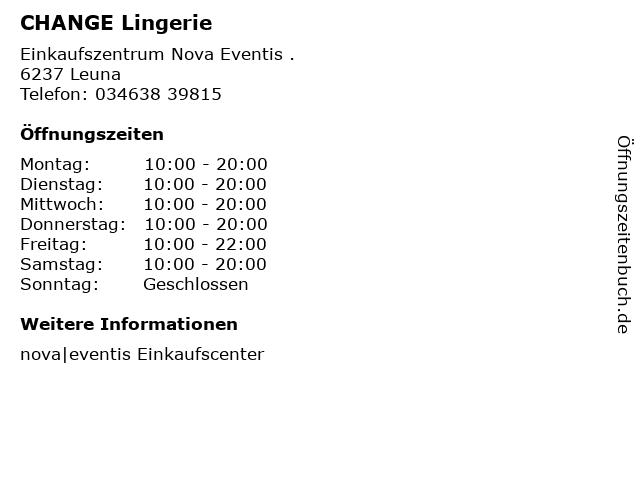 CHANGE Lingerie in Leuna: Adresse und Öffnungszeiten