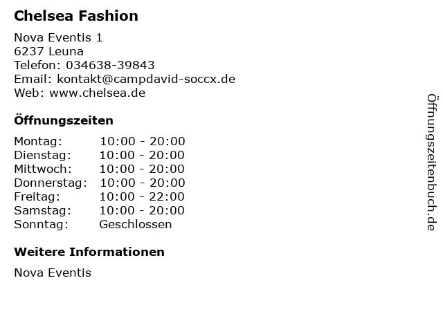 Chelsea Fashion in Leuna: Adresse und Öffnungszeiten