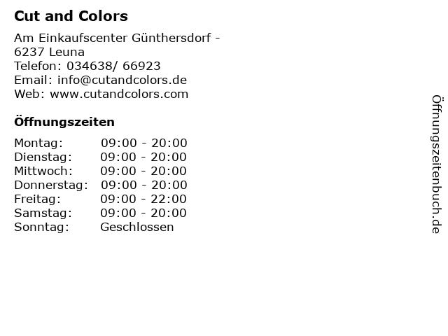 Cut and Colors in Leuna: Adresse und Öffnungszeiten