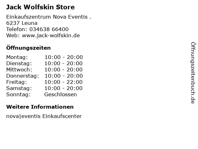 Jack Wolfskin Store in Leuna: Adresse und Öffnungszeiten