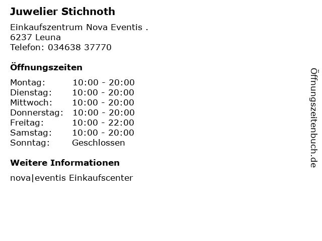 Juwelier Stichnoth in Leuna: Adresse und Öffnungszeiten