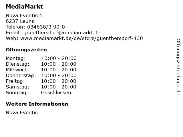 MediaMarkt in Leuna: Adresse und Öffnungszeiten
