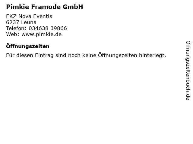 Pimkie Framode GmbH in Leuna: Adresse und Öffnungszeiten