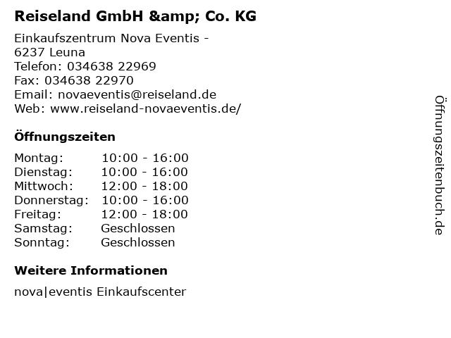 Reiseland GmbH & Co. KG in Leuna: Adresse und Öffnungszeiten