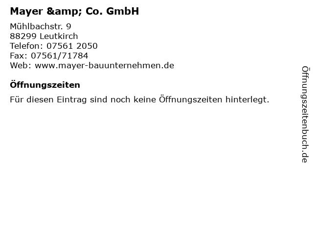 Mayer & Co. GmbH in Leutkirch: Adresse und Öffnungszeiten