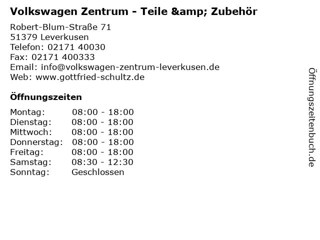 Volkswagen Zentrum - Teile & Zubehör in Leverkusen: Adresse und Öffnungszeiten