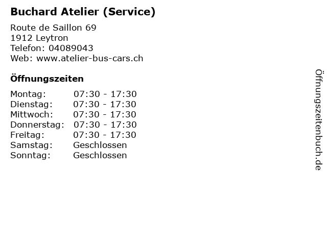 Buchard Atelier (Service) in Leytron: Adresse und Öffnungszeiten
