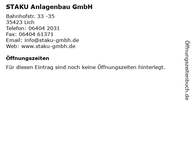 STAKU Anlagenbau GmbH in Lich: Adresse und Öffnungszeiten