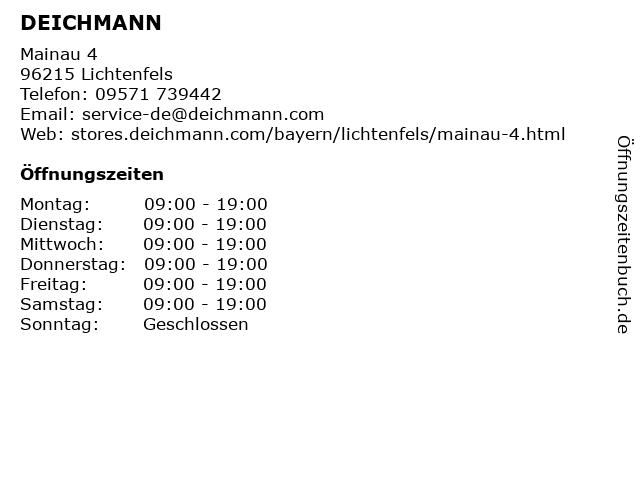 Deichmann Schuhe in Lichtenfels: Adresse und Öffnungszeiten