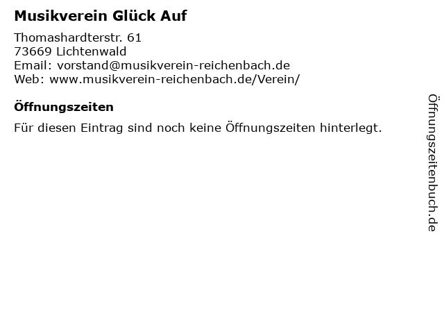 Musikverein Glück Auf in Lichtenwald: Adresse und Öffnungszeiten