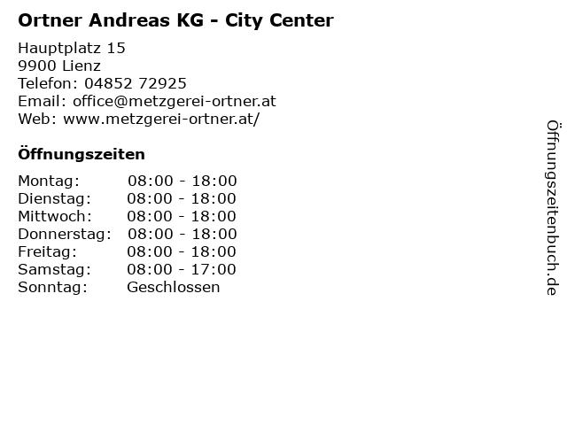 Ortner Andreas KG - City Center in Lienz: Adresse und Öffnungszeiten