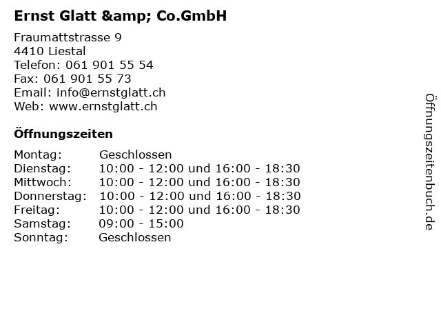 Ernst Glatt & Co.GmbH in Liestal: Adresse und Öffnungszeiten