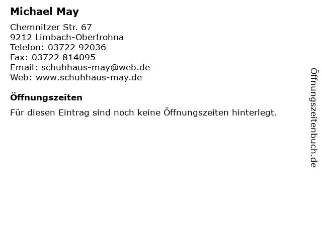Michael May in Limbach-Oberfrohna: Adresse und Öffnungszeiten