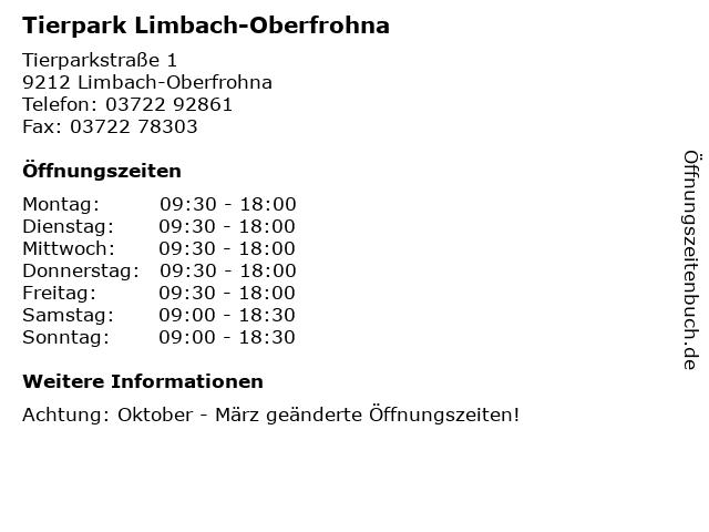 ᐅ öffnungszeiten Tierpark Limbach Oberfrohna Tierparkstraße 1
