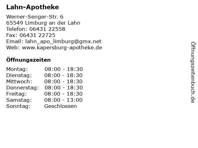 Lahn-Apotheke in Limburg an der Lahn: Adresse und Öffnungszeiten